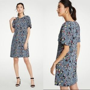 Ann Taylor Chic Floral Flare Sleeves Dress size 12